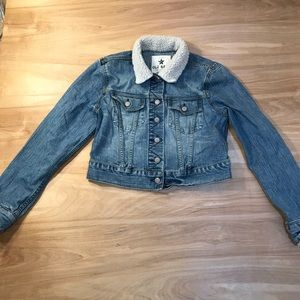 Women's Old Navy Distressed Jean jacket Size Med